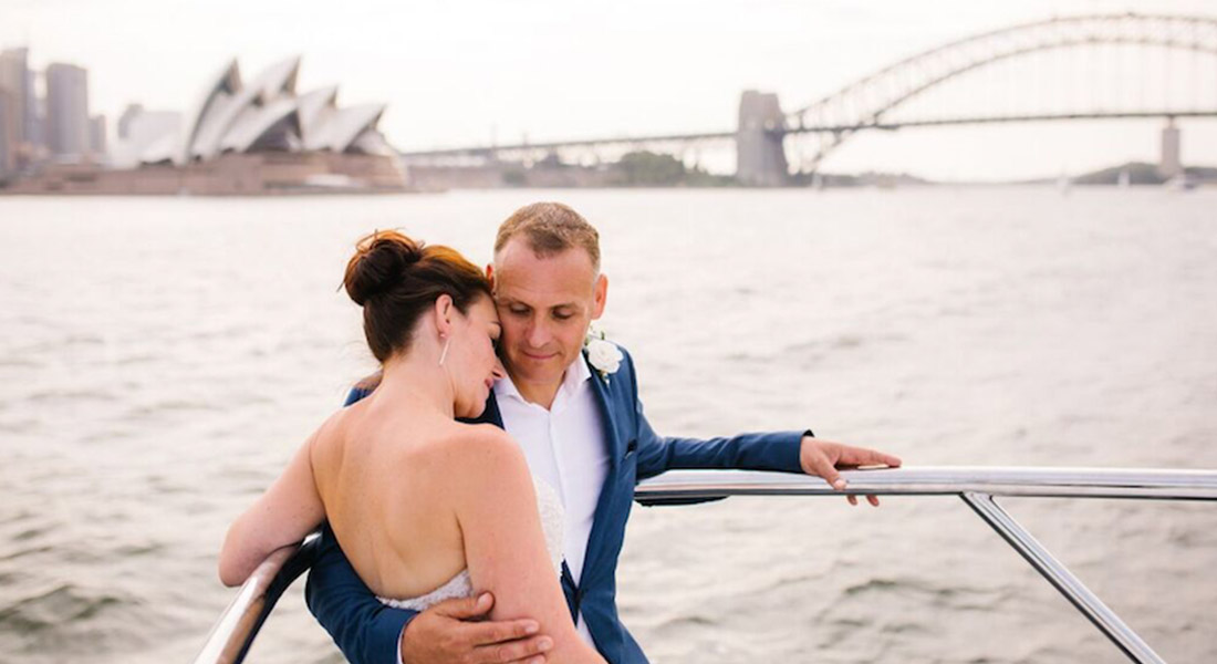 Jayne + Peter: Superyacht Wedding At Sea