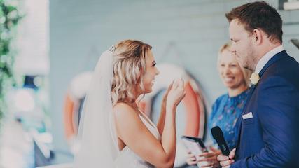 Moby Dicks Whale Beach Wedding Ceremony Marry Me Nicky Nicky Surnicky
