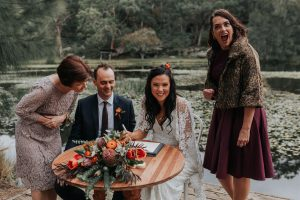 Audley Dancehall Wedding Ceremony Royal National Park Kristie Carrick Photography Marry Me Nicky