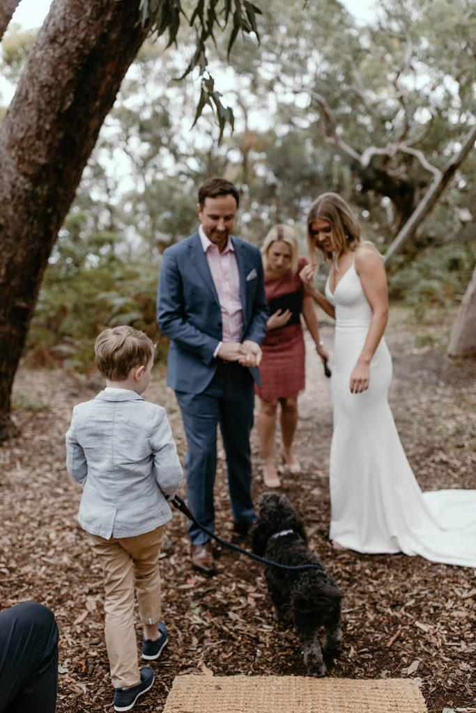 Cute Dog Ringbearer McKay Reserve Palm Beach Sydney Wedding Ceremony Samantha Heather Photography Marry Me Nicky Nicky Surnicky