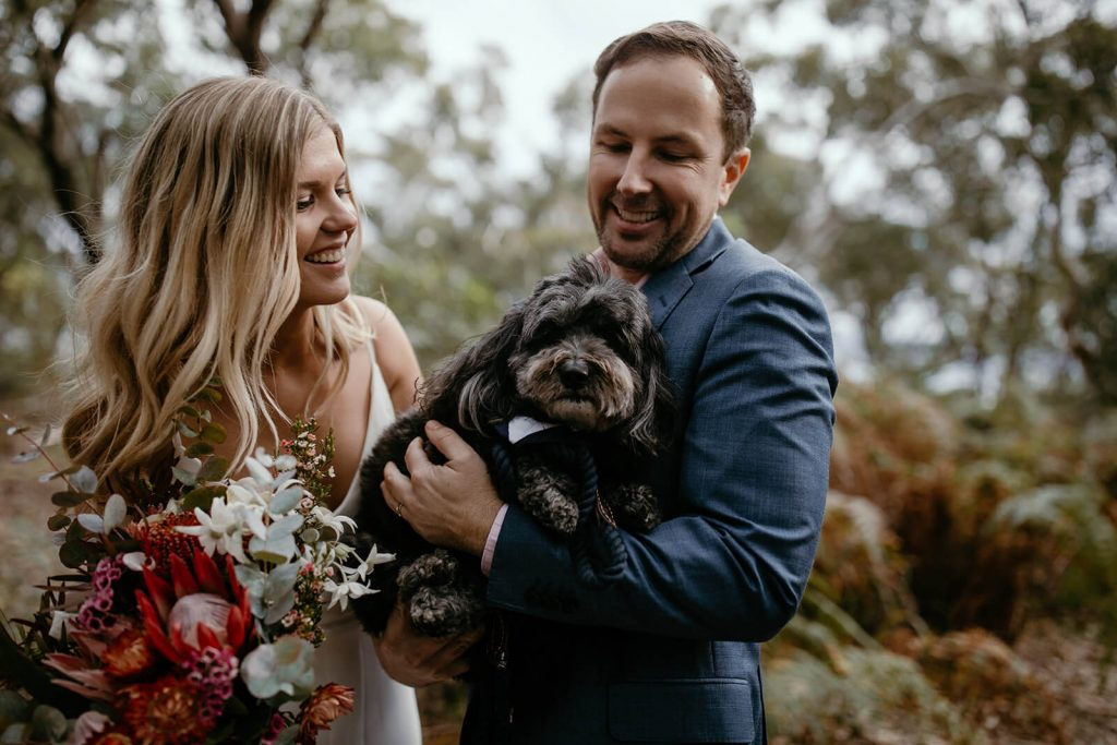 Cute Dog Ringbearer McKay Reserve Palm Beach Sydney Wedding Ceremony Samantha Heather Photography Marry Me Nicky Nicky Surnicky